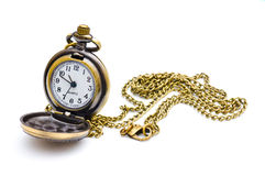 Old beautiful pocket watch Royalty Free Stock Photos