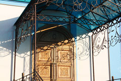 Old beautiful porch of orthodox church Royalty Free Stock Photography