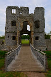 Old beautiful ruined entrance of Baconsthorpe Castle, Norfolk, United Kingdom. The Norfolk Coast Area of Outstanding Natural Beauty is a protected landscape in Royalty Free Stock Photos