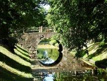 Old beautiful small bridge near  Rundale palace, Latvia Stock Images
