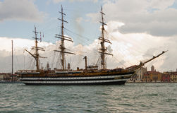 Old beautiful tall ship. Royalty Free Stock Photo