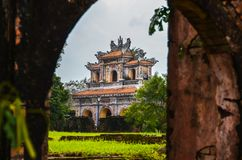 Old and beautiful Temple in Vietnam stock photography