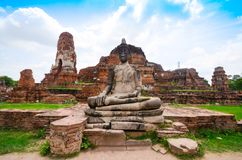 Old Beautiful Thai Temple, Ayutthaya Royalty Free Stock Photography
