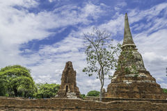 Old Beautiful Thai Temple wat Mahathat, Ayutthaya Historical Par. K, Ayutthaya, Thailand Stock Images