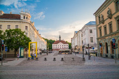Old beautiful townhall in Tartu, Estonia Stock Photo