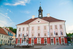 Old beautiful townhall in Tartu, Estonia Royalty Free Stock Images