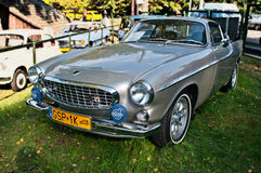Old beautiful Volvo P1800. Vintage beautifully restored Swedish Volvo 1800 on a car show in Gdansk Oliwa, Poland Royalty Free Stock Image