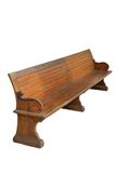 Old beautiful wooden bench Stock Image