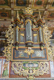 Organ in  St John the Baptist Church - Orawka, Poland. Stock Photography