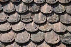Old beaver tail pan tiles Stock Photos