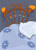 Old bed and pillow Stock Photo