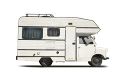 Old Bedford camper Royalty Free Stock Photography
