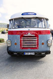 Old Bedford passenger bus. MALTA - APRIL 11: Old Bedford passenger bus on Malta pictured 11 April 2014. These busses are now extinct, but 30 years ago they were Royalty Free Stock Photo