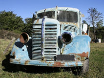 Old Bedford Truck 2. Old truck sitting in a paddock in Wanstead, Hawke's Bay, New Zealand Stock Photo