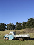 Old Bedford Truck. Sitting in a paddock on a farm in Wanstead, Hawke's Bay, New Zealand Royalty Free Stock Photo