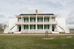 Old Bedlam, Fort Laramie, Wyoming. Old Bedlam on Officers' Row at Fort Laramie National Historic Site, Wyoming Royalty Free Stock Photos