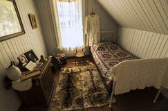 Old bedroom at  Pandosy mission site Royalty Free Stock Photo