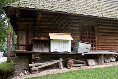 Old bee hives Stock Images