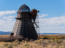 Old beehive burner, teepee burner, wigwam burner Stock Photo