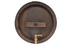 Old beer barrel with spigot Stock Images