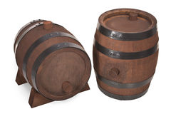 Old beer barrels Royalty Free Stock Photo
