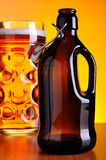 Old beer bottle Stock Images