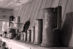 Old beer mugs Stock Photography