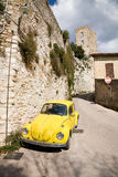 Old beetle car in Umbria, Italy Stock Images