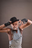 Old beggar's grimace Royalty Free Stock Photography