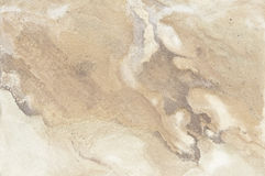 Old beige stone wall background texture. Close up Royalty Free Stock Photos