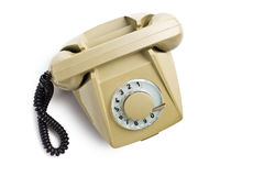Old beige telephone Royalty Free Stock Photography