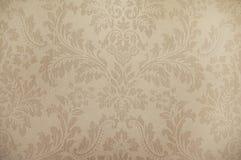 Old beige wallpaper background texture Stock Photos