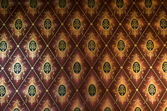 Old beige wallpaper for texture or background Stock Photography