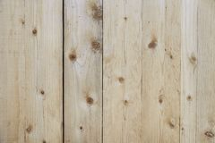 Old beige wooden fence background texture. Close up Stock Images