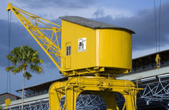 Old Belém Waterfront Crane Royalty Free Stock Image