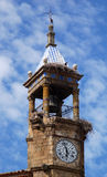 Old Belfry. Belfry of the Church of Santa Maria of Trujillo stock photography