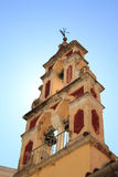 Old belfry tower in Corfu Stock Images