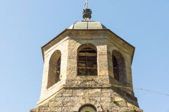 Old belfry Troyan Monastery in Bulgaria royalty free stock photography