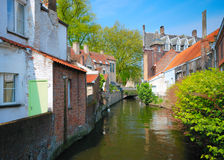 Old Belgian canal Stock Images