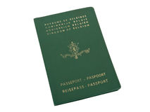 Old Belgian passport Royalty Free Stock Images