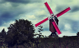Old belgian windmill Stock Photography