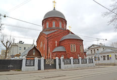 Old Belief cathedral of the Intercession of the Theotokos Pokrovsky. Moscow Royalty Free Stock Photo