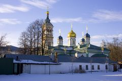 Old believer Rogozhsky community of Moscow. The Church of St. Nicholas the Wonderworker the Golden dome Orthodoxy Stock Photography