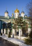 Old believer Rogozhsky community of Moscow. The Church of St. Nicholas the Wonderworker the Golden dome Orthodoxy Stock Images