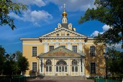 Old Believers Cathedral of Intercession in Rogozhskaya Sloboda. In Moscow stock photo
