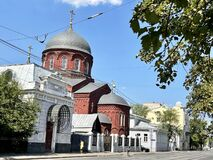 Moscow, Russia, July, 27, 2021. Old Believers Church in honor of the Intercession of the Virgin on Novokuznetskaya street in Mosco