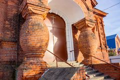Old Believers` Church in the name of the introduction of the Blessed Virgin Mary in 1908 in Borovsk. Russia royalty free stock photo