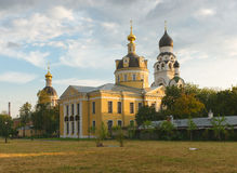 Old Believers' Church Rogozhskoy community in. Moscow, beautiful church in a sunny summer evening royalty free stock image