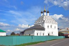 Old Believers' Church of Saint Nicolas. Kremlin in Kolomna, Russia. KOLOMNA, RUSSIA - AUGUST 16, 2014: Old Believers' Church of Saint Nicolas. Kremlin in royalty free stock photos