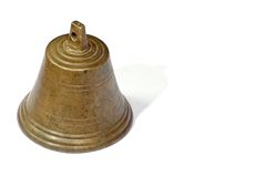 Old bell. Over white Royalty Free Stock Images